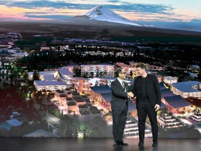 Toyota Starts Building Smarty City Near Mt. Fuji